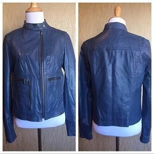 DKNY Jeans Leather Jacket XS